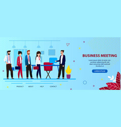 Boss meet stuff in office for business discussion vector