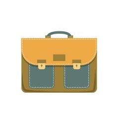 Briefcase cartoon colorful vector image