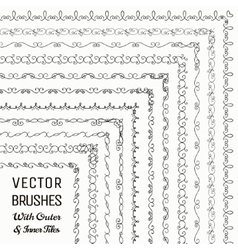 Brushes with Outer and Inner Tiles vector