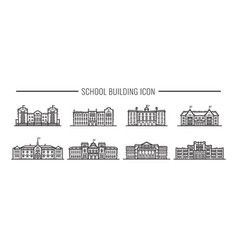 building high school american or european vector image
