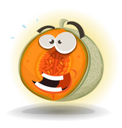 cartoon funny melon character vector image