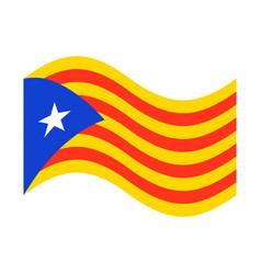 catalonia flag isolated estelada blava banner vector image