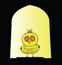 Chicken yellow vector