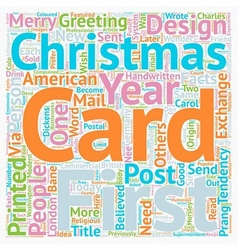 Christmas Cards Facts text background wordcloud vector