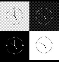 clock icon isolated on black white and vector image