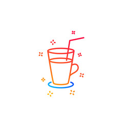 Coffee or cocktail line icon fresh drink sign vector