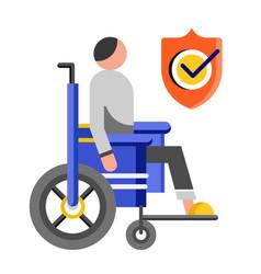 Disability insurance flat vector