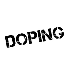 Doping rubber stamp vector image
