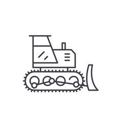excavator line icon concept excavator vector image