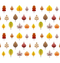 Fall leaves tree seamless background vector