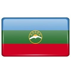 Flags KarachayCherkessia in the form of a magnet vector