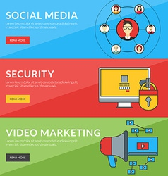 Flat design concept for social media security vector image