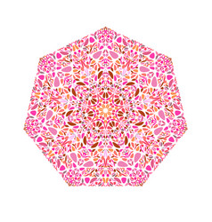 Geometrical abstract isolated ornate flower vector