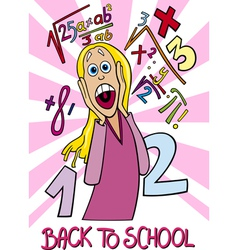 Girl Frightened of Coming Back to School vector image
