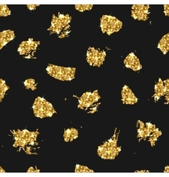 Golden glitter seamless pattern background vector image