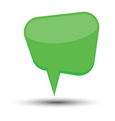 green cartoon comic balloon speech bubble vector image
