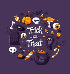 Halloween greeting card flyer banner vector