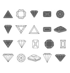hand drawn sketch of diamond icon vector image