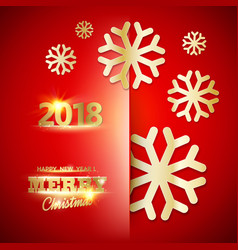 happy new year 2018 card vector image