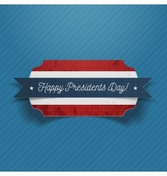 Happy Presidents Day realistic patriotic Banner vector image