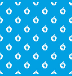 hard tooth pattern seamless blue vector image