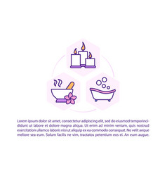 Home spa procedures concept icon with text vector
