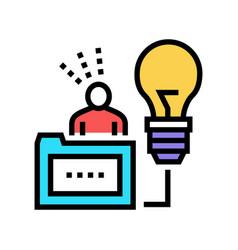 Human business idea color icon vector