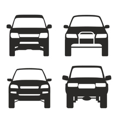 Icon of suv truck 4x4 off road vector