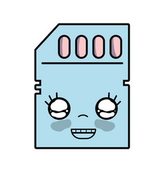 Kawaii cute happy micro sd vector