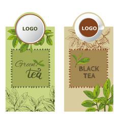 label tea3eps vector image