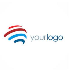 Loop stripe sphere logo vector