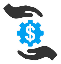 maintenance price flat icon vector image