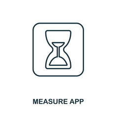 measure app icon monochrome style design from vector image
