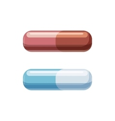 Medical capsules icon cartoon style vector image
