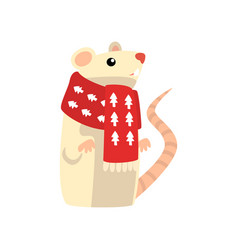 mouse symbol of new year cute animal of chinese vector image