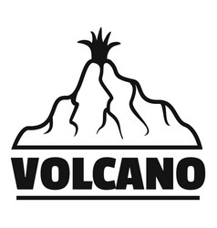 new volcano logo simple style vector image