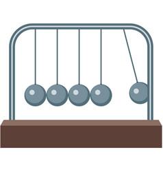 Newton pendulum cradle icon isolated vector