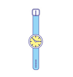 Nice watch to know the time of day vector