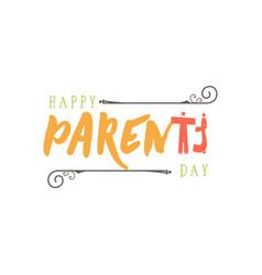 parents day badge design sticker stamp logo vector image