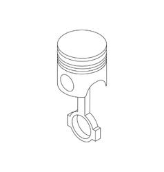 Piston icon isometric 3d style vector image
