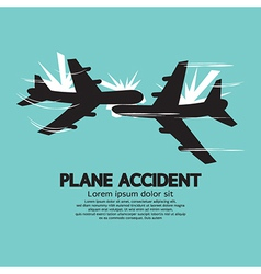 Plane Accident vector image