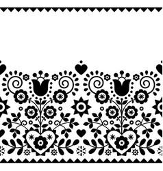 Polish folk art seamless textile or fabric vector