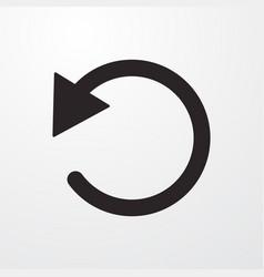 Repeat arrow sign icon vector