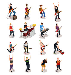 Rock stars isometric people vector