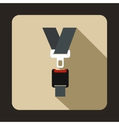Safety belt icon flat style vector
