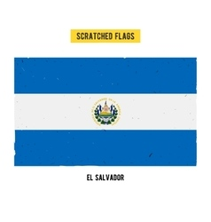 Salvadoran grunge flag vector