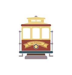 san-francisco-streetcar vector image