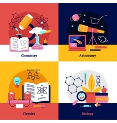 Science Square Banners vector image