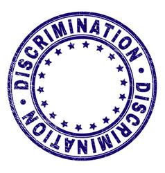 Scratched textured discrimination round stamp seal vector