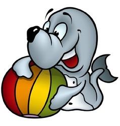 Seal and Ball vector image
